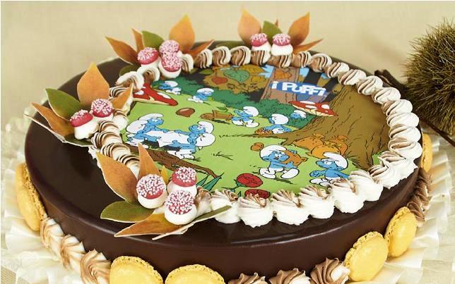 Украшение тортов вафельными картинками фото